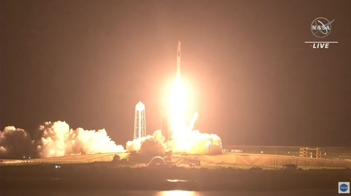 SpaceX launches 4 astronauts to space station, nails rocket landing