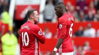 Wayne Rooney, Paul Pogba