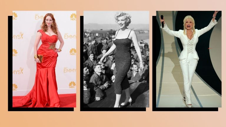 three women with hourglass body shapes