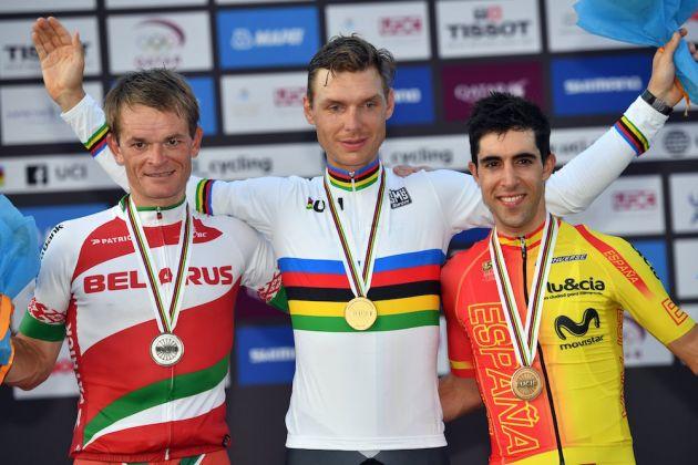 Tony Martin in the elite mens TT at the 2016 World Road Championships (Watson)