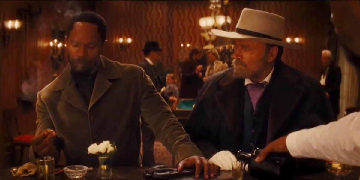 Jamie Foxx and Frank Nero in Django Unchained