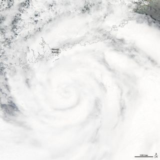 Giant Typhoon Vicente snapped from space in July 2012.