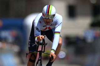 MILAN ITALY MAY 30 Filippo Ganna of Italy and Team INEOS Grenadiers at arrival during the 104th Giro dItalia 2021 Stage 21 a 303km Individual Time Trial stage from Senago to Milano ITT UCIworldtour girodiitalia Giro on May 30 2021 in Milan Italy Photo by Stuart FranklinGetty Images