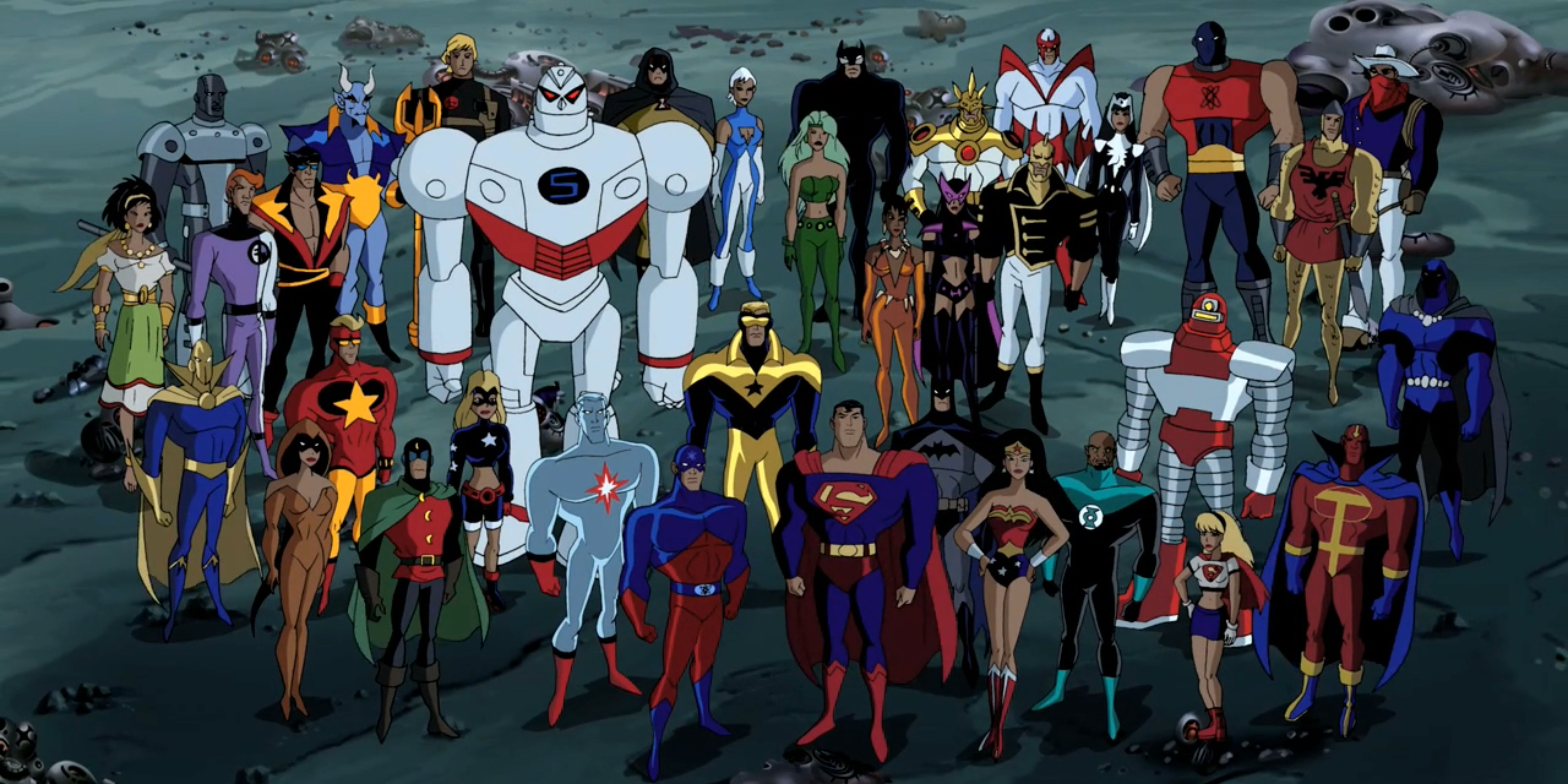 A group shot of the entire Justice League.