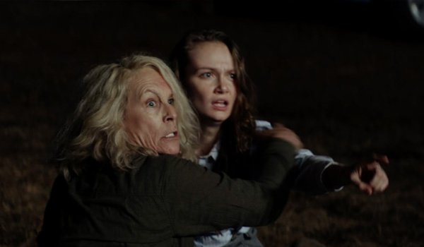 Andi Matichak as Allyson with Jamie Lee Curtis as Laurie Strode in Halloween 2018