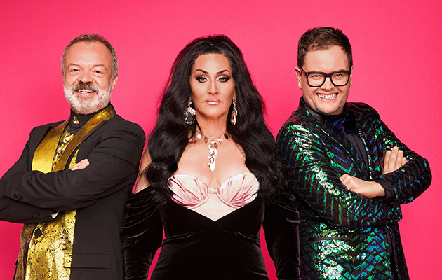 RuPaul's Drag Race UK judges... Graham Norton, Michelle Visage, Alan Carr