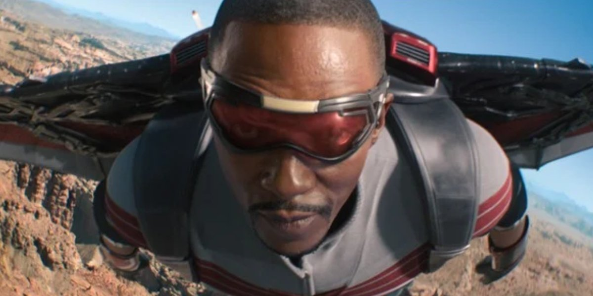 Anthony Mackie as Sam Wilson on The Falcon and the Winter Soldier