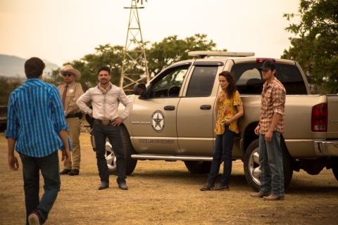 Jake Allyn, George Lopez, Frank Grillo and Andie MacDowell star in 'No Man's Land,' from a script by Jake.