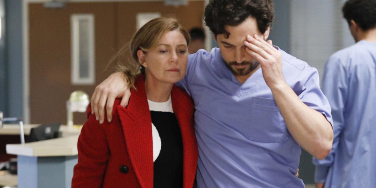 Grey's Anatomy Meredith Grey Ellen Pompeo Andrew DeLuca Giacomo Gianniotti ABC