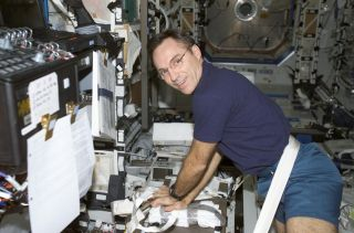 Carl Walz on the ISS