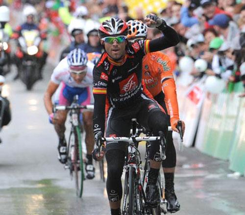 Alejandro Valverde wins Tour de Romandie 2010, stage 5