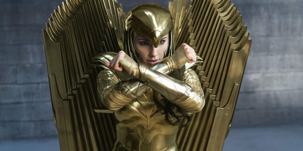 Gla Gadot in Golden Eagle armor in Wonder Woman 1984