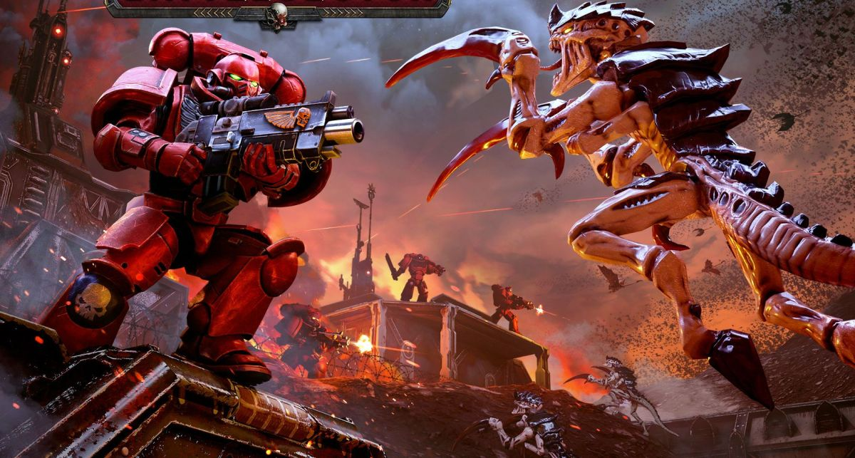 Warhammer 40,000: Battlesector is a tactics game starring the ultimate goth space marines