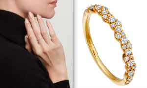 Gold Linia Interstellar Diamond Ring