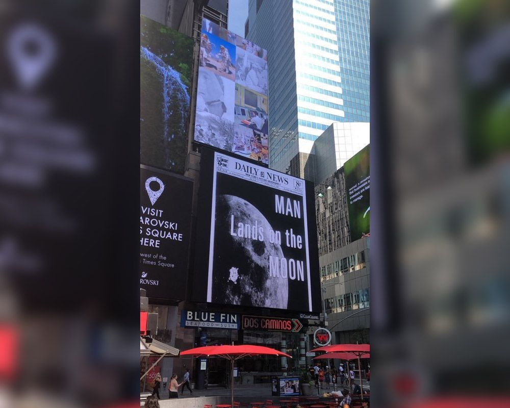 Apollo 11 Lands in NYC's Times Square for Moon Landing's