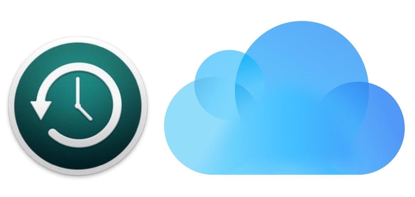 Time Machine and iCloud logos