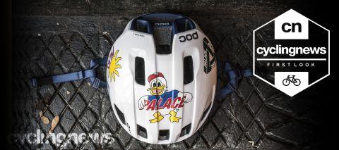 Rapha X Palace POC Ventral Spin helmet