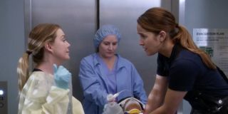 Meredith and Andy in the hospital