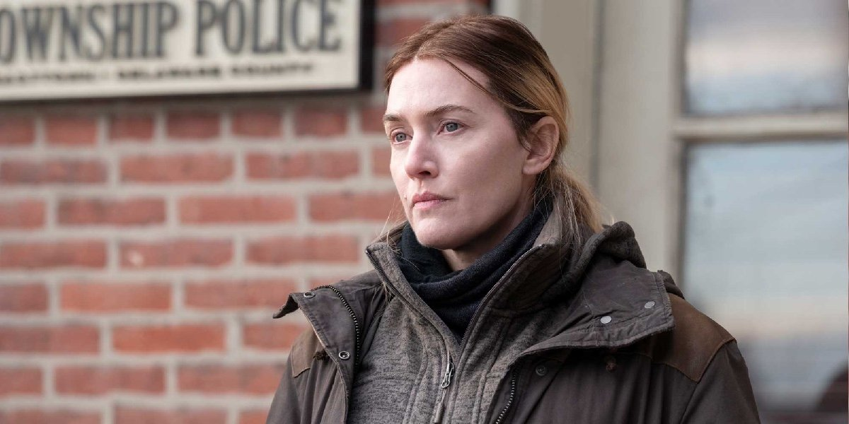 Kate Winslet as Detective Mare Sheehan in Mare of Easttown.