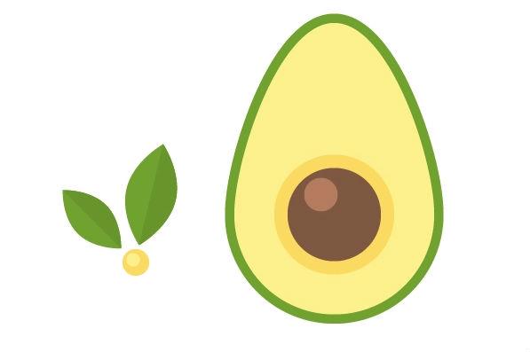 Cartoon of avocado
