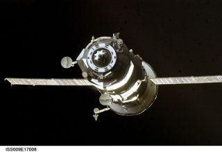 Russian Supply Ship Docks at ISS