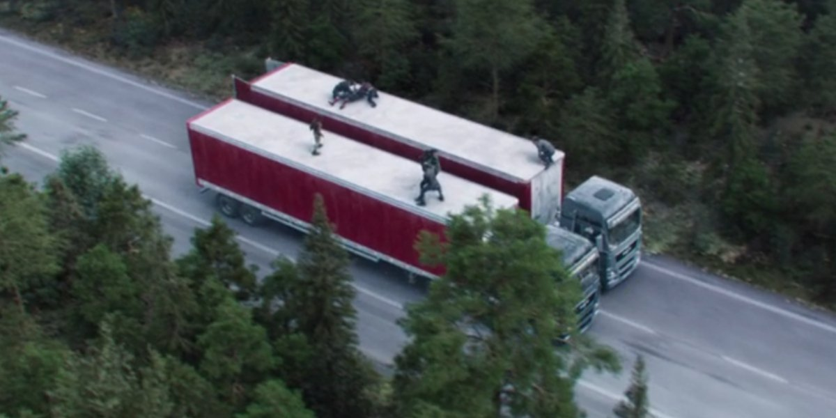 The Falcon and the Winter Soldier truck fight