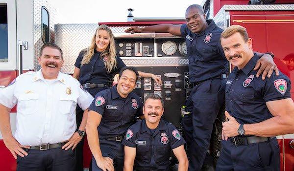 tacoma FD cast on a firetruck