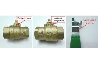 recall, Fu San Machinery, low lead ball valves
