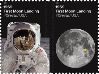 On July 19, 2019, the U.S. Postal Service will release stamps marking the Apollo 11 moon landing.