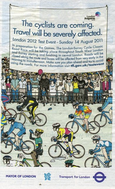 Olympic test event, newspaper advert