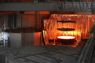 Secondary mirror of ESO's Extremely Large Telescope mold