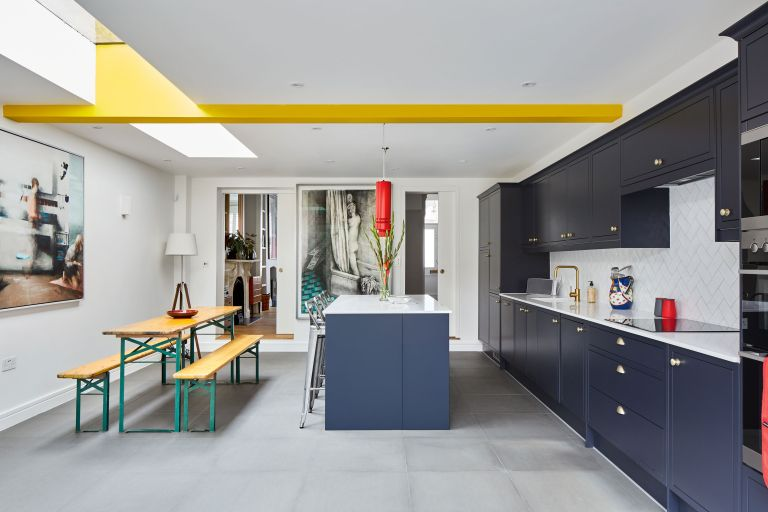 Making space to hang pieces of art was a top priority when Luq Adejumo bought a run-down Victorian terrace to renovate and extend