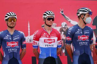 UAE Tour 2021 - 3th Edition - 1st stage Al Dhafra Castle - Al Mirfa 176 km - 21/02/2021 - Mathieu Van Der Poel (NED - Alpecin-Fenix) - photo Luca Bettini/BettiniPhoto©2021