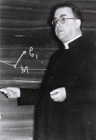 Belgian priest and cosmologist Georges Lemaître