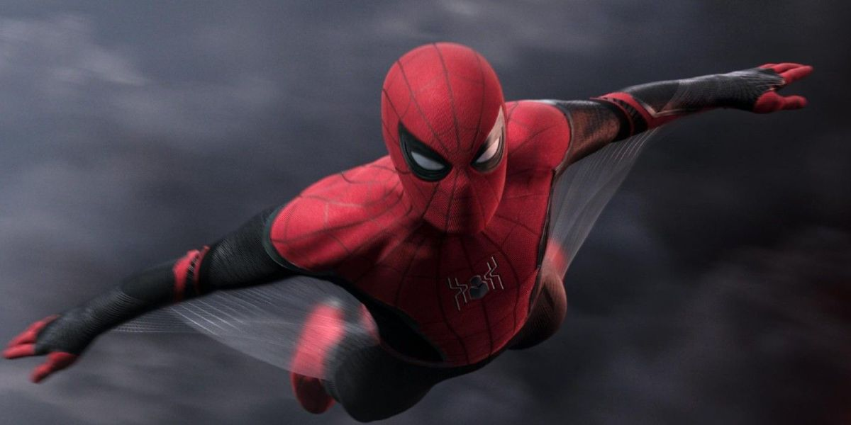 Spider-Man (Tom Holland) soars into action in Spider-Man: Far From Home (2019)