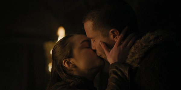 game of thrones season 8 arya gendry kissing hbo