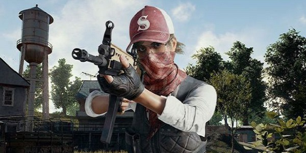 A player takes aim in PUBG.