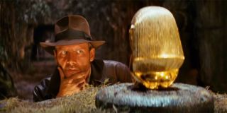 Indiana Jones musing over the Golden Idol in Raiders of the Lost Ark