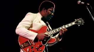 B.B. King performing at the Newport Jazz Festival in Newport, Rhode Island on 6 July, 1969