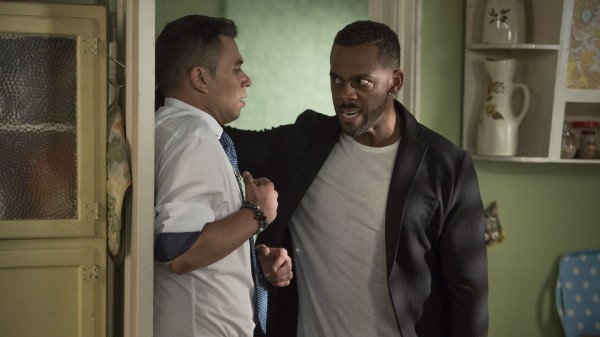 A furious Vincent tells Fatboy he is not impressed with how he has treated Donna