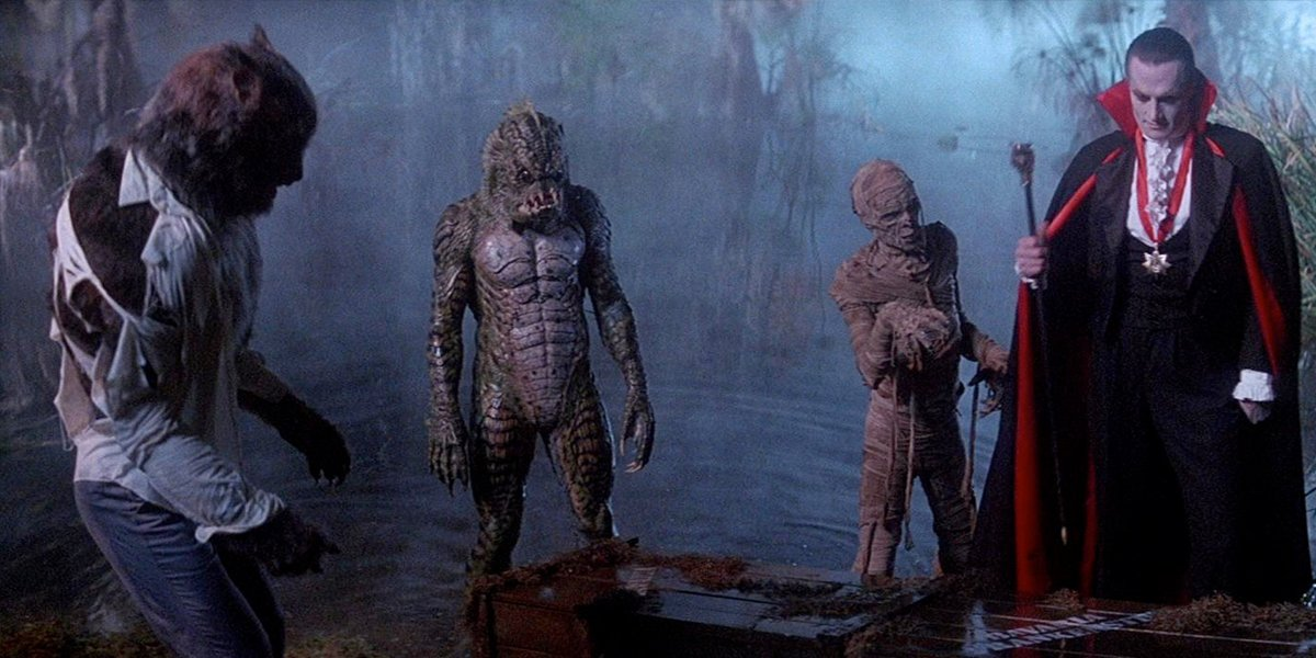 the monsters gather in Monster Squad
