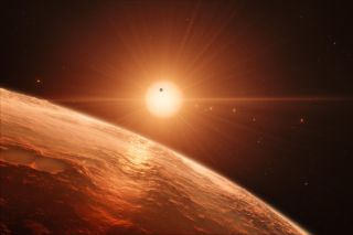 TRAPPIST-1 View: Artist's Illustration