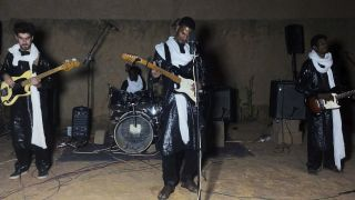 Mdou Moctar performs live in Niamey, Niger with his band
