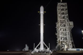 Falcon 9 and Zuma on the Pad