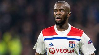 Tanguy Ndombele playing for Lyon