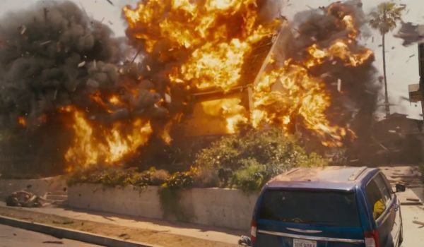 Furious 7 House Explosion