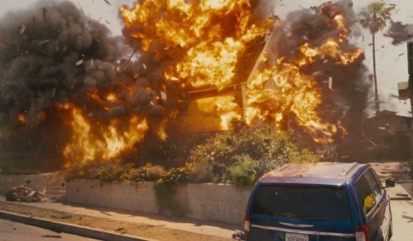 Furious 7 House Explosion