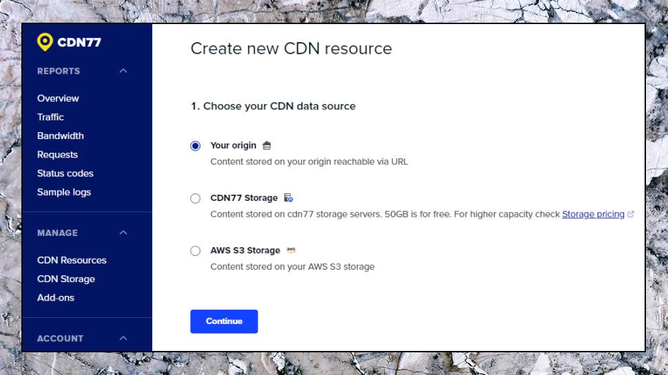 Create New CDN Resource