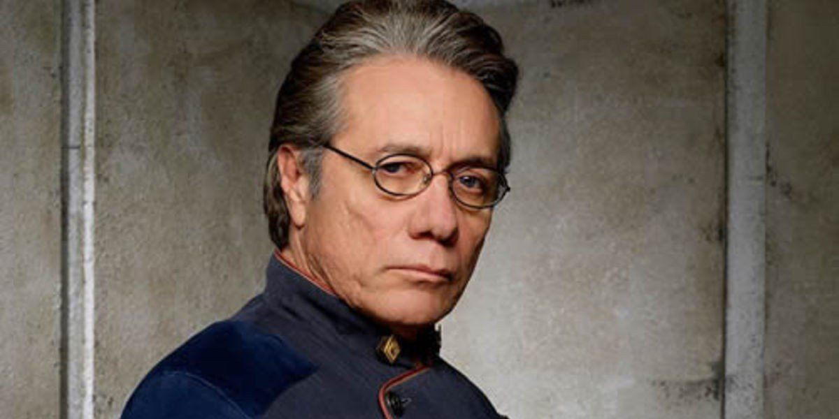Edward James Olmos with the stern look