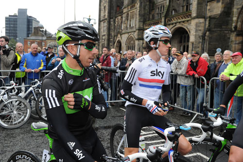Russell Downing and Geraint Thomas, Tour of Britain 2010, stage one